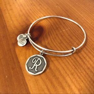 """Alex & Ani """"R"""" Initial Bracelet"""